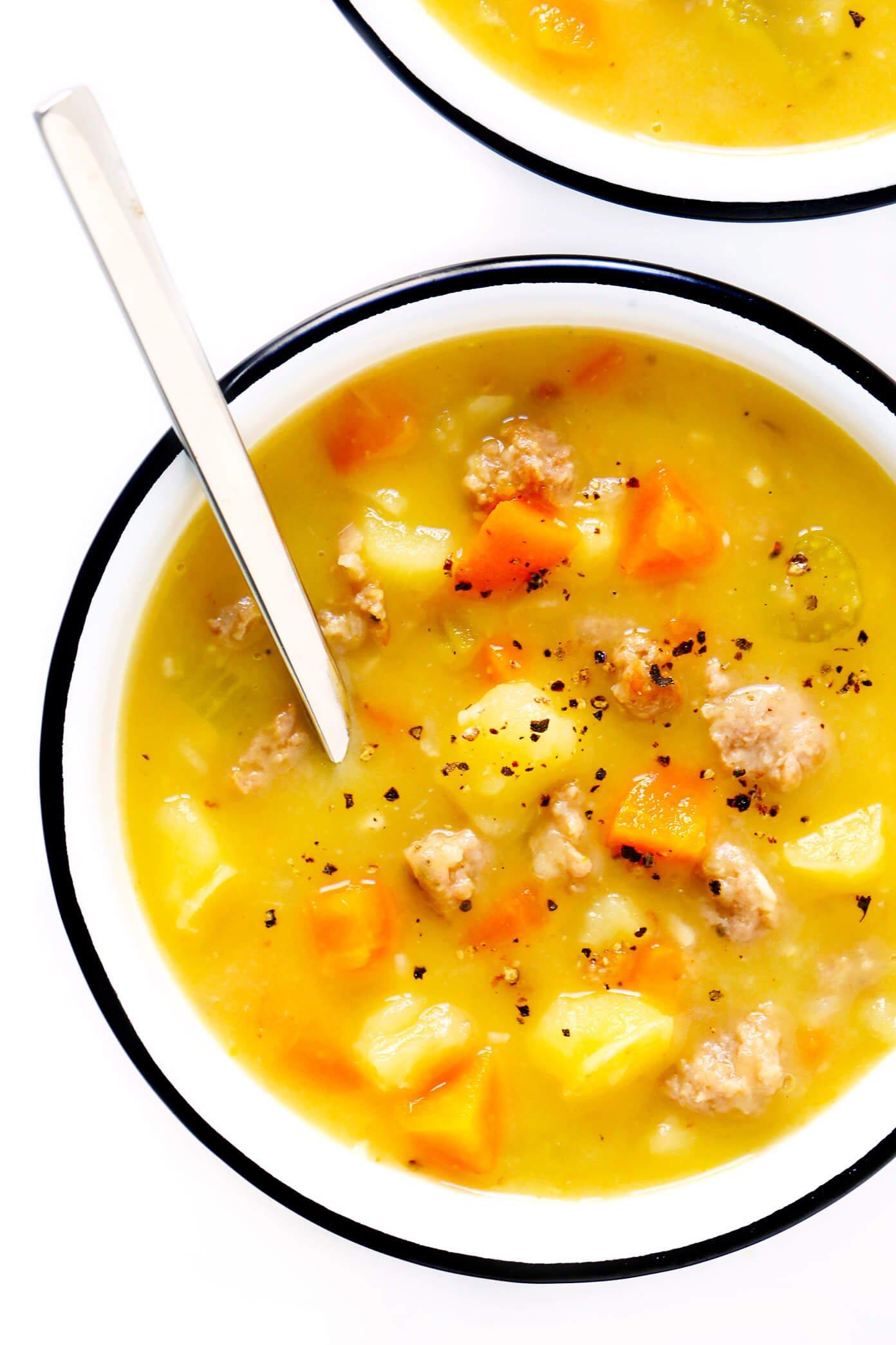 Turkey Cheeseburger Soup Recipe from Skinnytaste