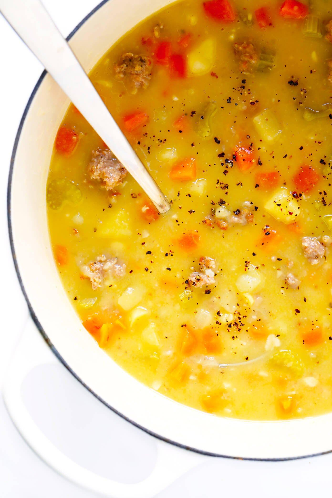 Turkey Cheeseburger Soup Recipe