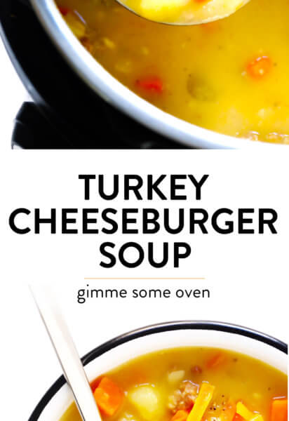 Turkey Cheeseburger Soup Recipe