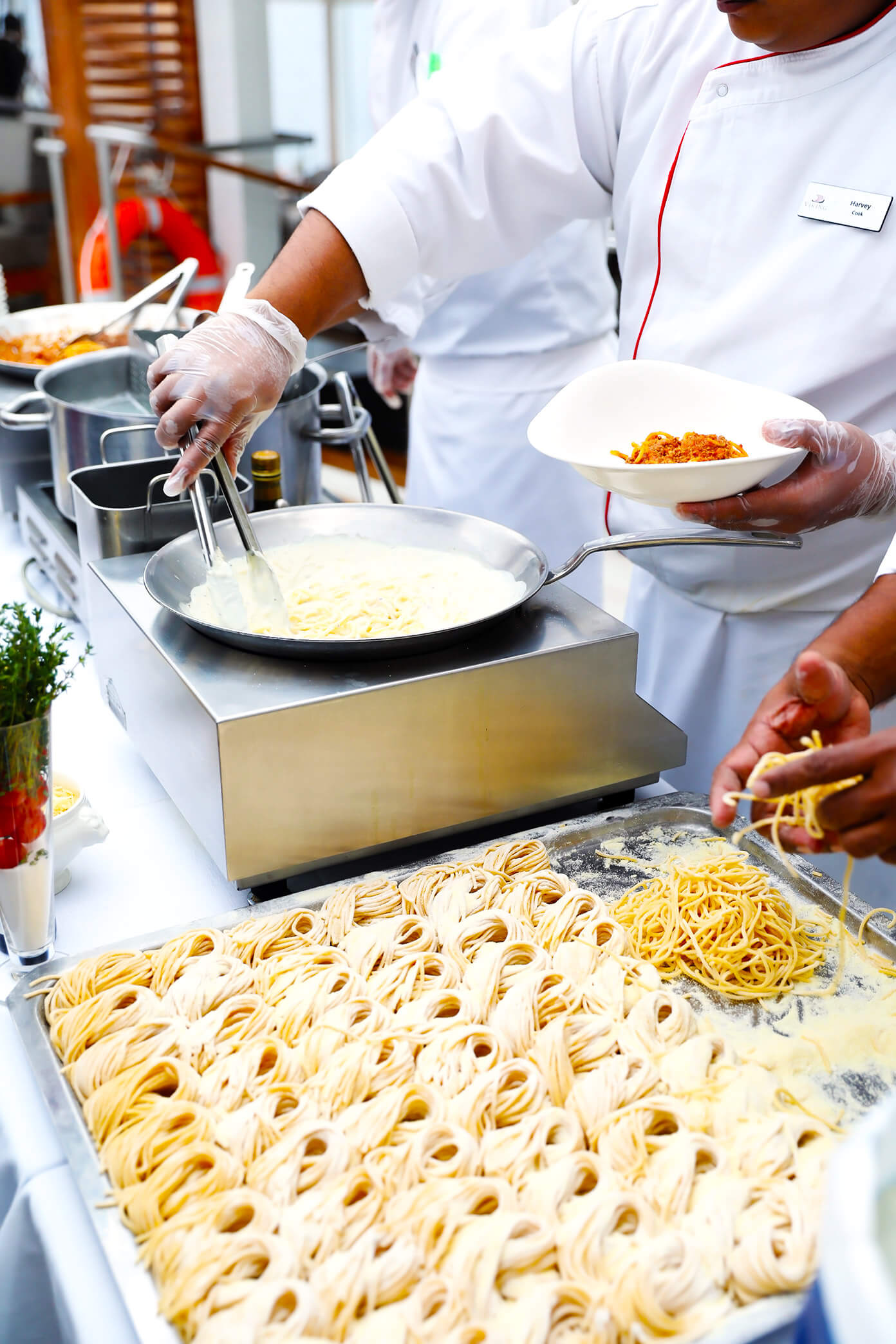 Fresh pasta bar   Viking Star Ocean Cruise