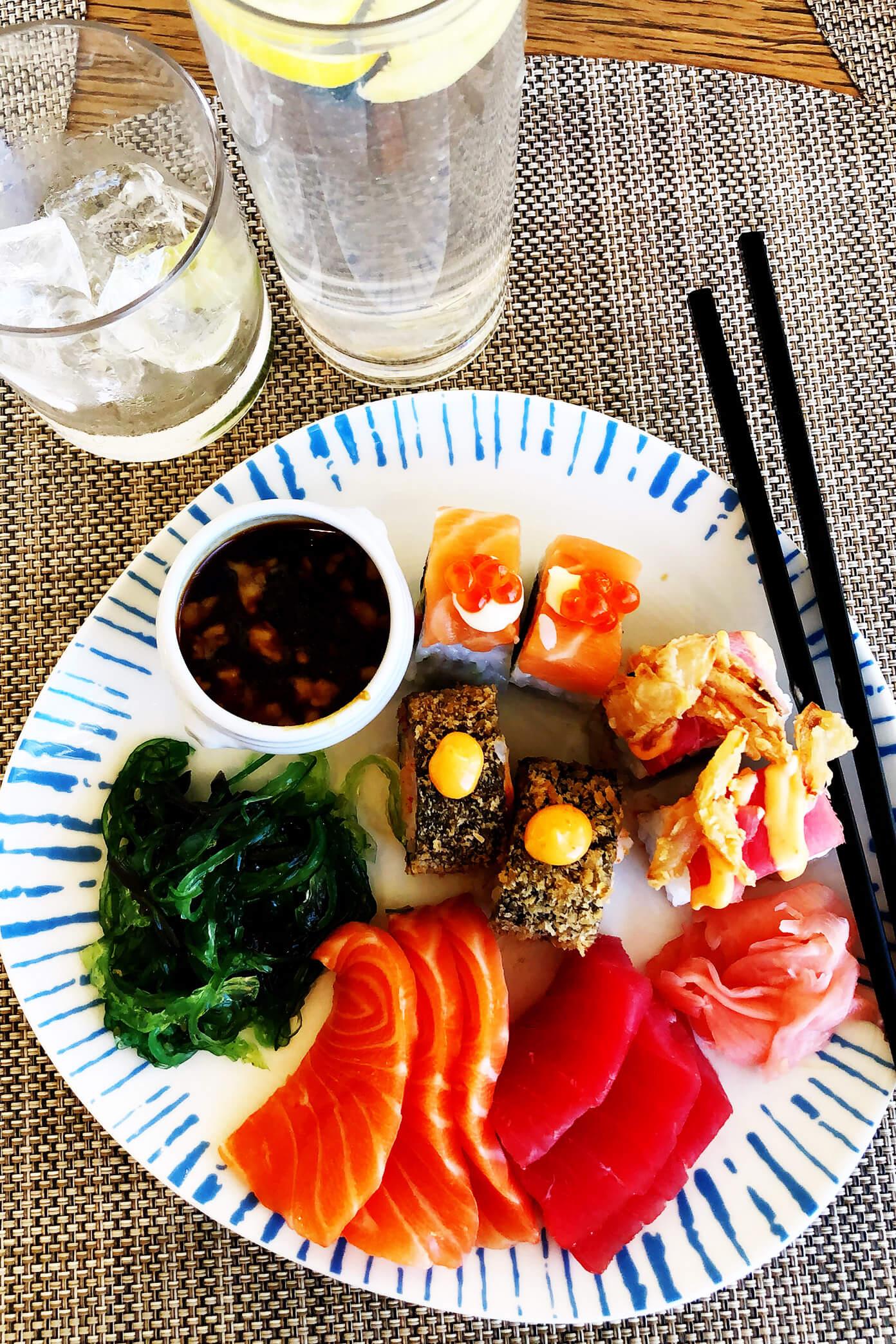 Sushi buffet   Viking Star Ocean Cruise