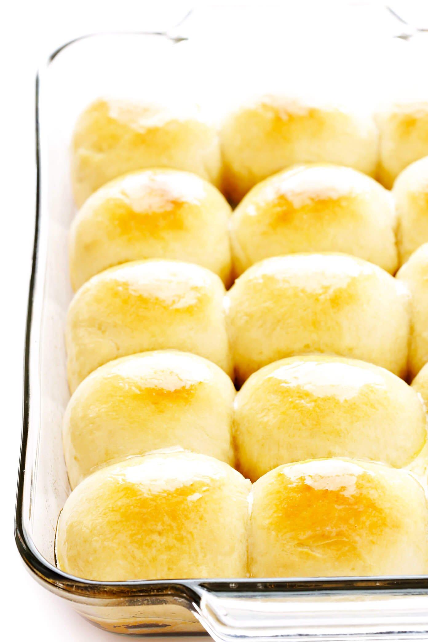 1-Hour Dinner Rolls Recipe in Baking Dish