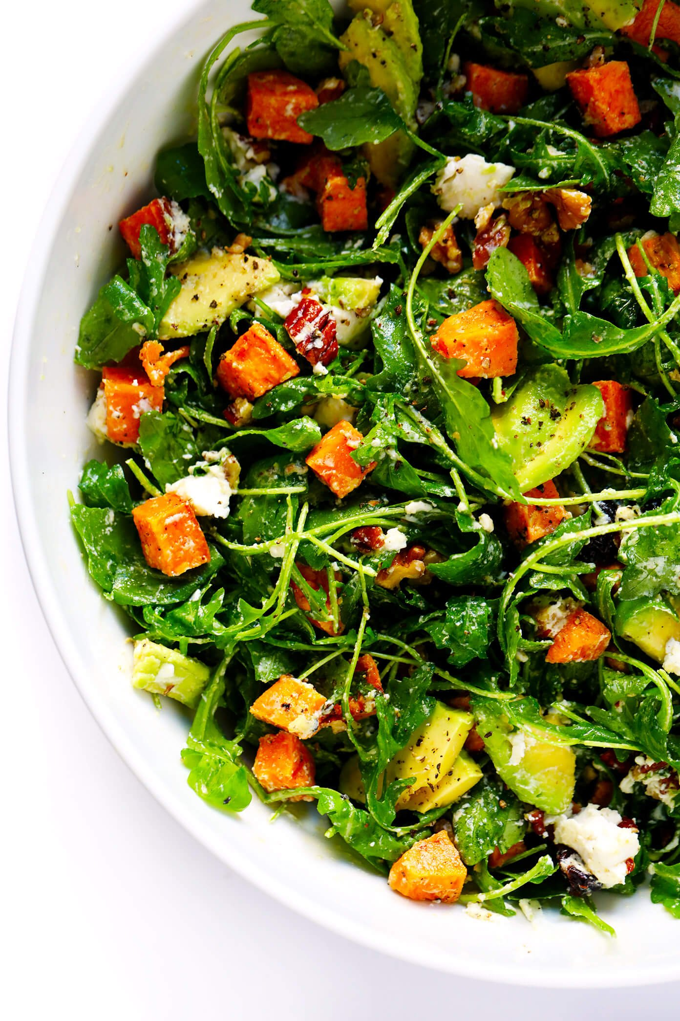 Feel-Good Fall Salad Recipe with Sweet Potatoes and Avocado