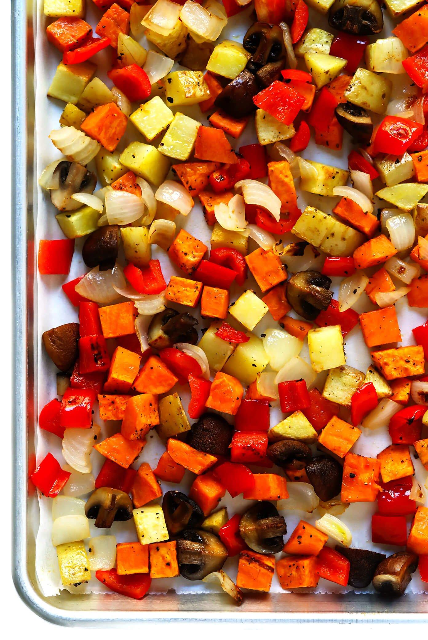 Roasted Vegetables | Cozy Autumn Breakfast Casserole Recipe