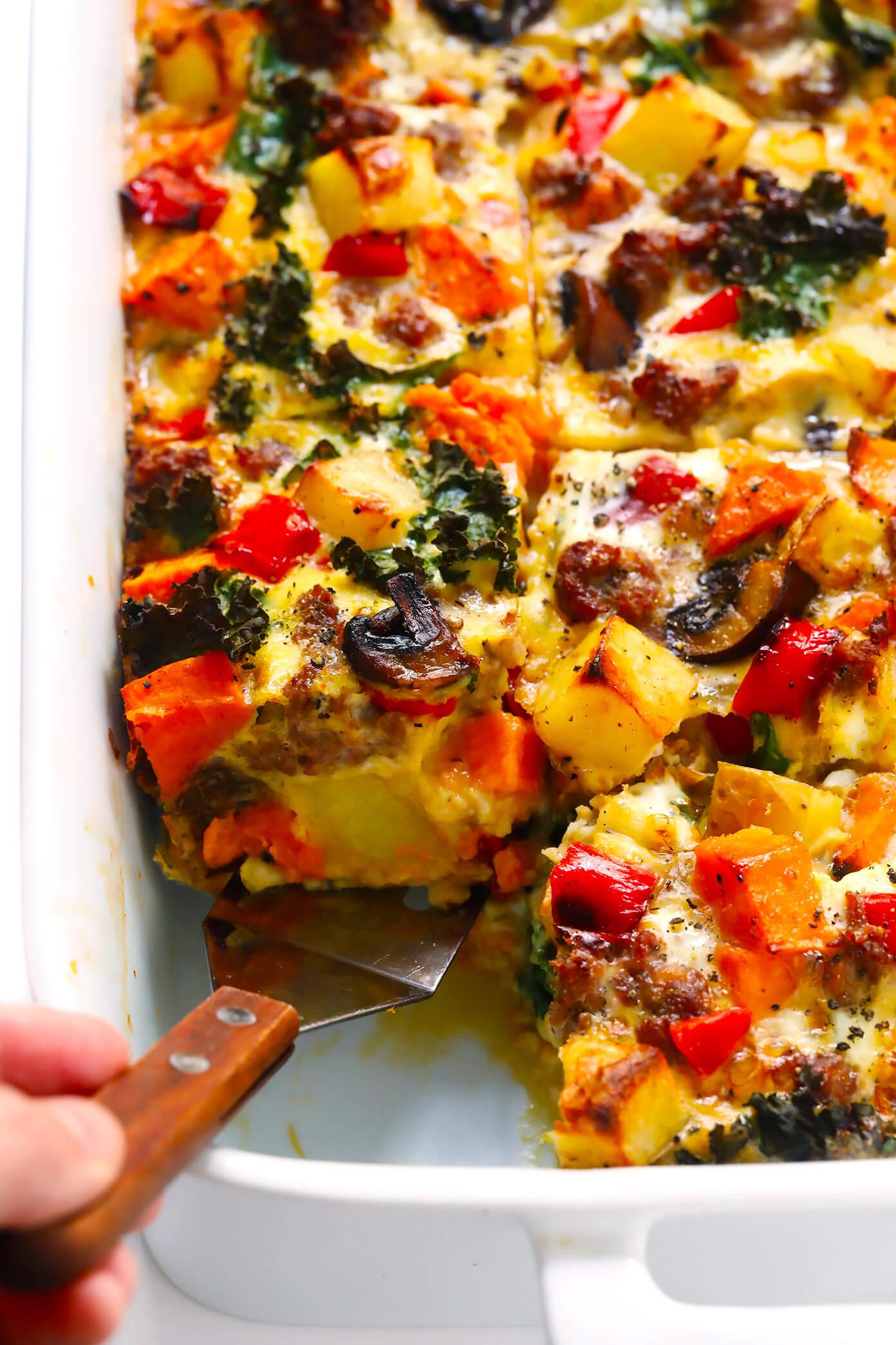 Cozy Autumn Breakfast Casserole Recipe with Sweet Potato