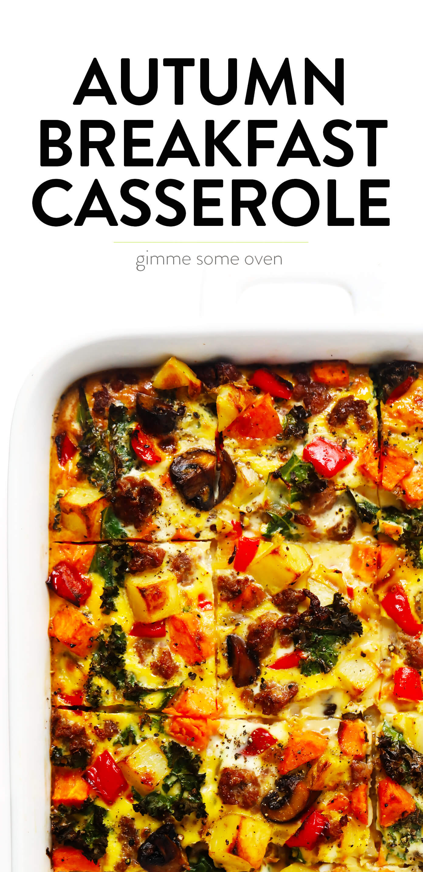 Cozy Autumn Breakfast Casserole Recipe from Gimme Some Oven