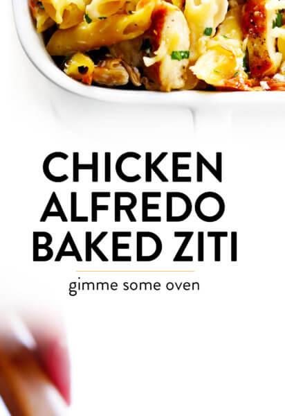 Chicken Alfredo Baked Ziti Casserole Recipe