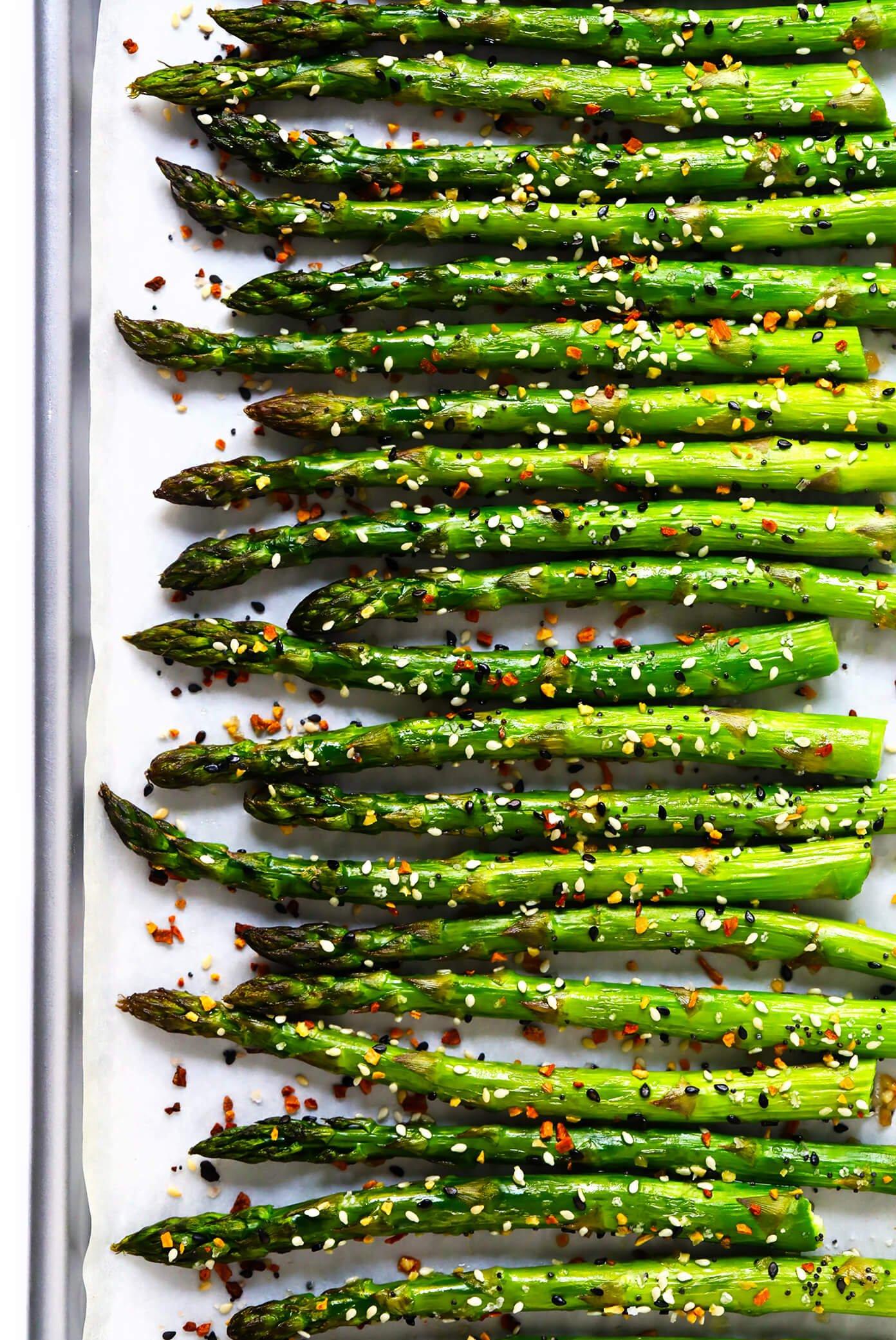 """Everything"" Roasted Asparagus Recipe"