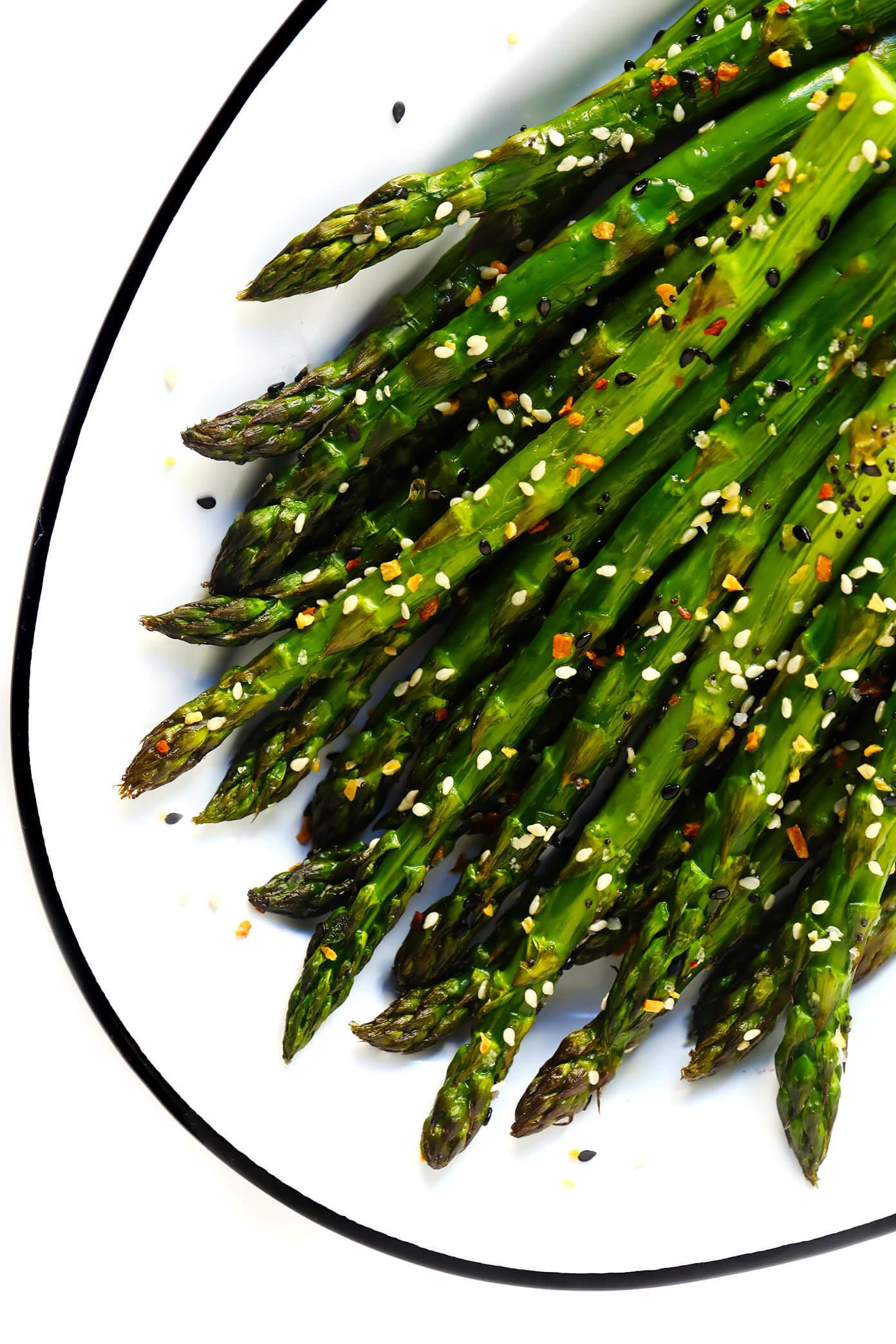 """Everything"" Roasted Asparagus with Sea Salt"