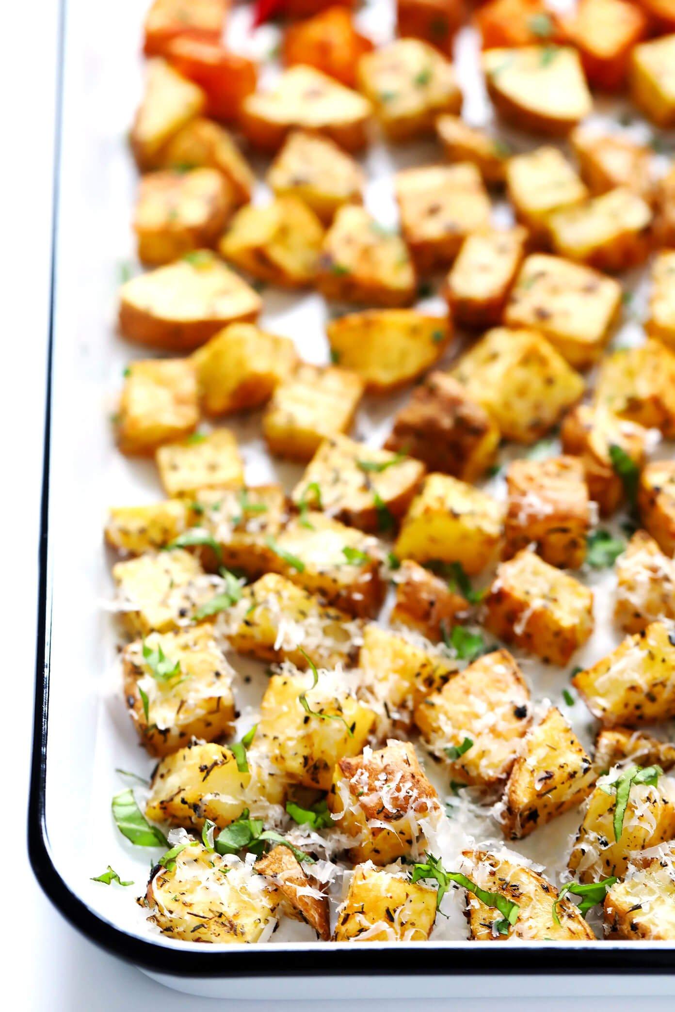Crispy Roasted Potatoes Recipe | Smoky, Lemony and Cheesy
