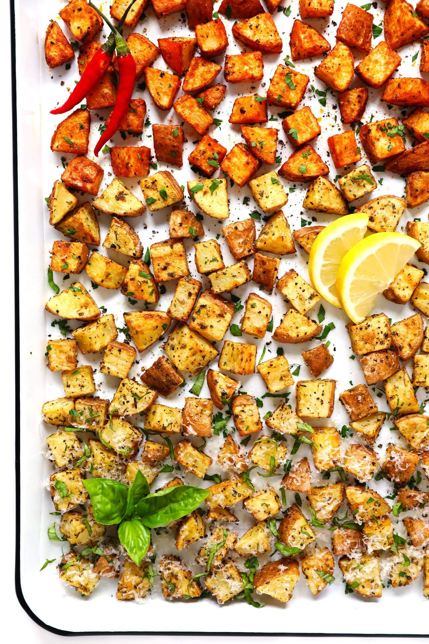 Extra Crispy Roasted Potatoes -- 3 Ways!