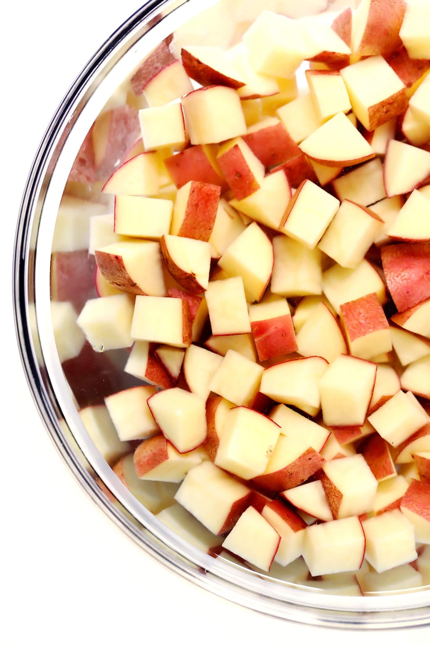 Diced Potatoes | Extra Crispy Roasted Potatoes Recipe