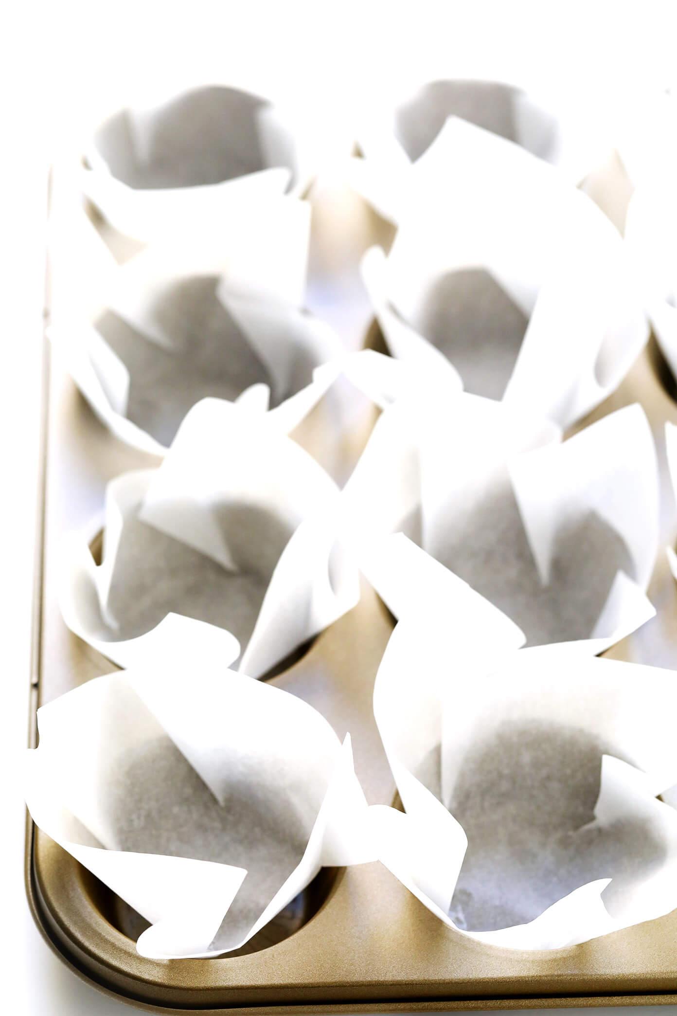 DIY Parchment Tulip Baking Cups