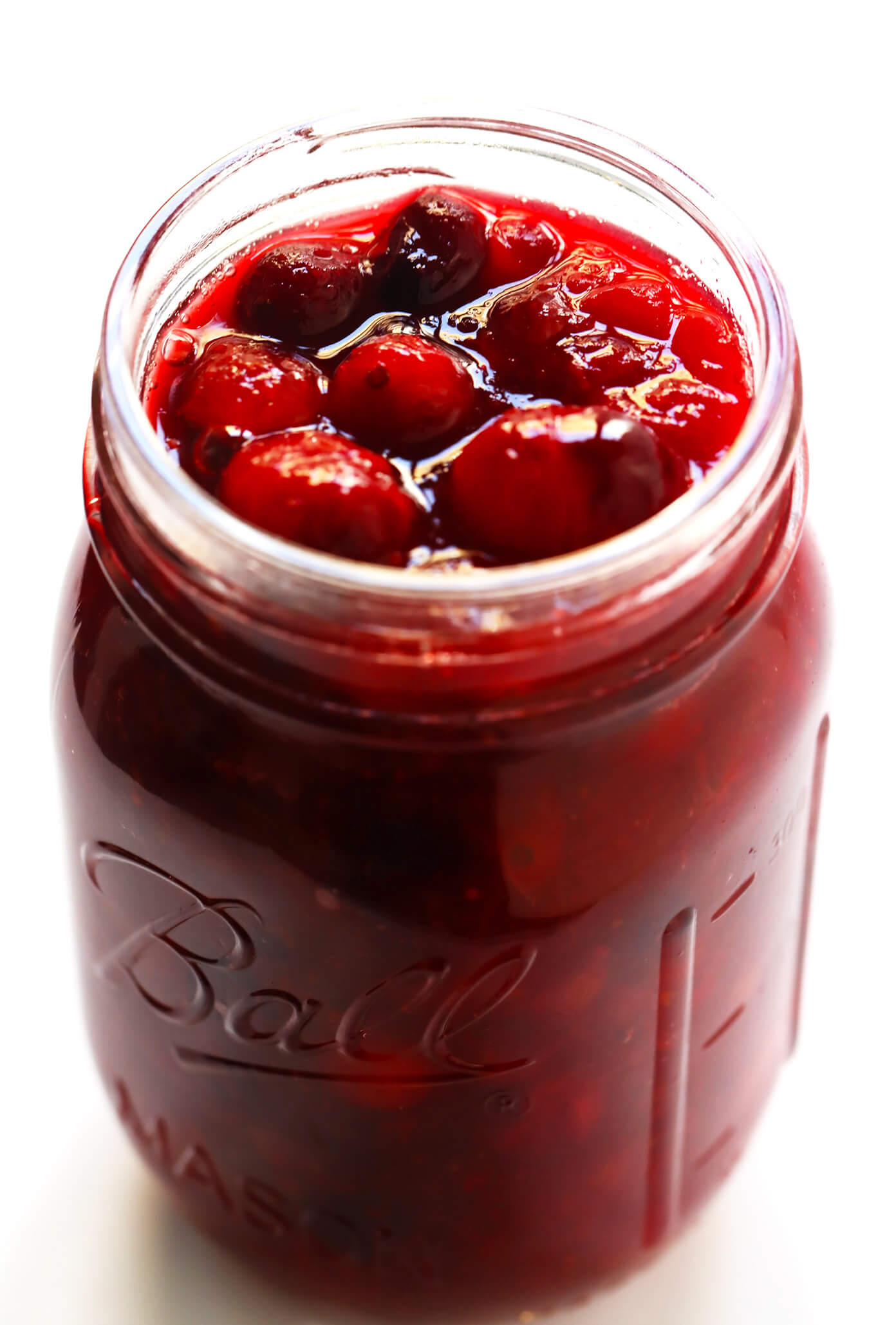 Maple Cranberry Sauce in Jar