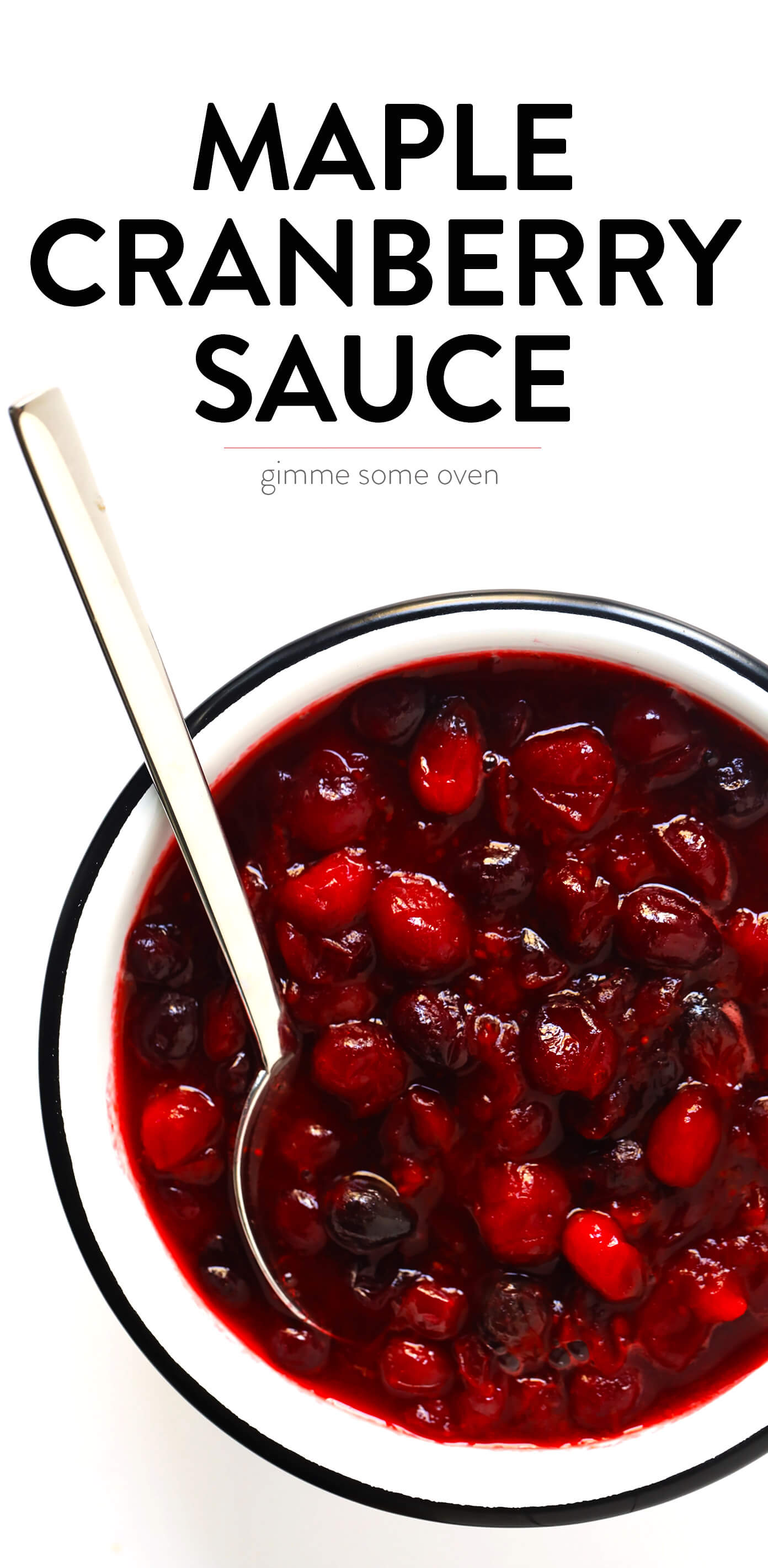 Maple Sweetened Cranberry Sauce Recipe