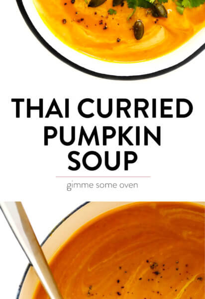 Thai Curried Pumpkin Soup Recipe | Gimme Some Oven