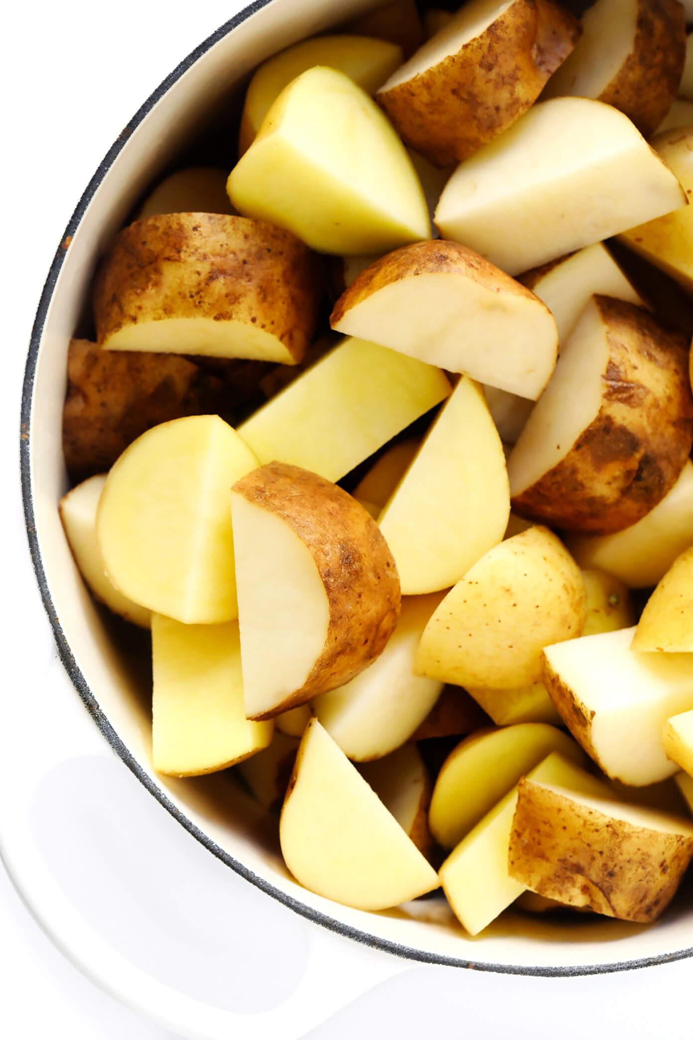 Yukon Gold Potatoes and Russet Potatoes | Mashed Potatoes Recipe
