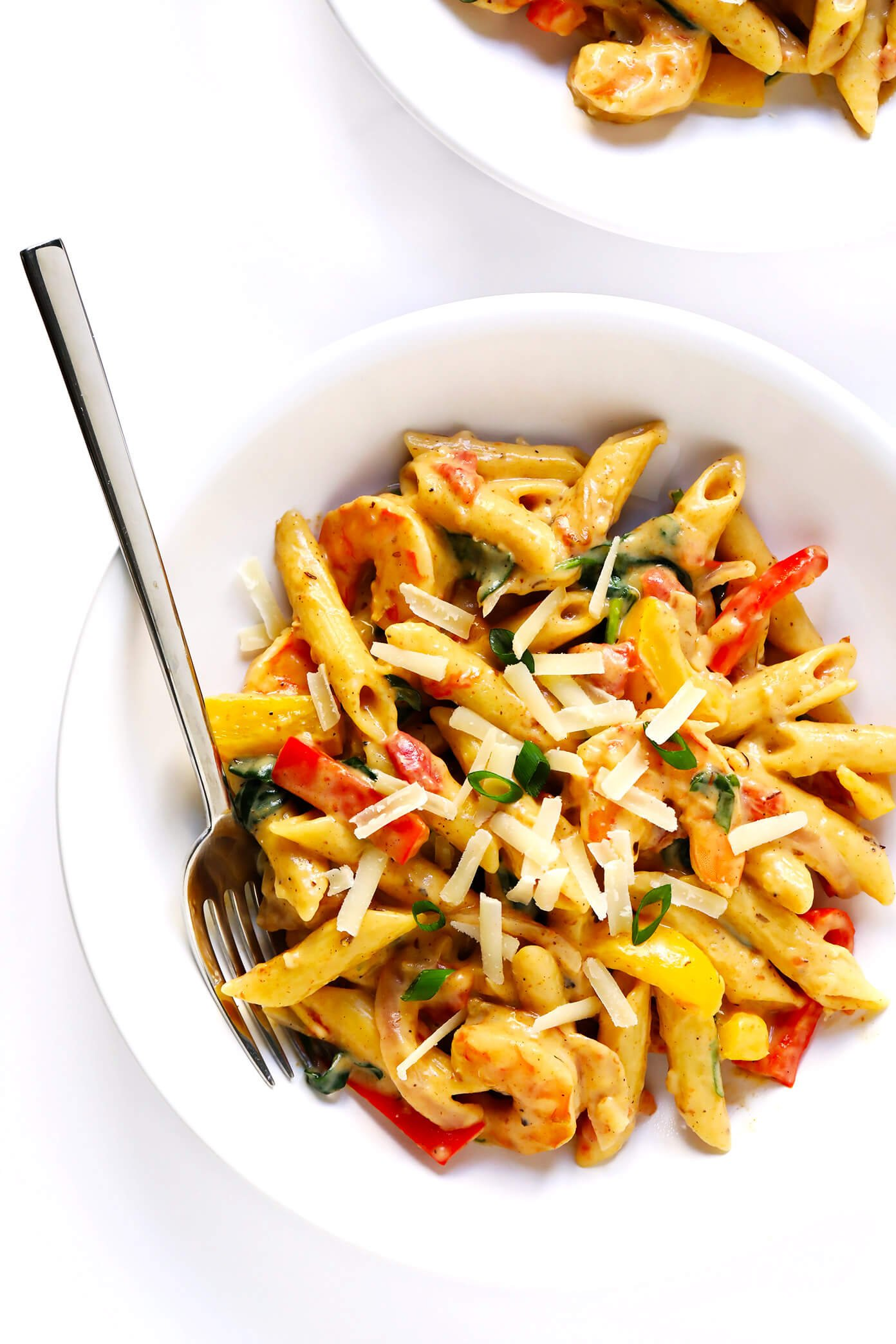 Creamy Cajun Pasta with Shrimp and Vegetables