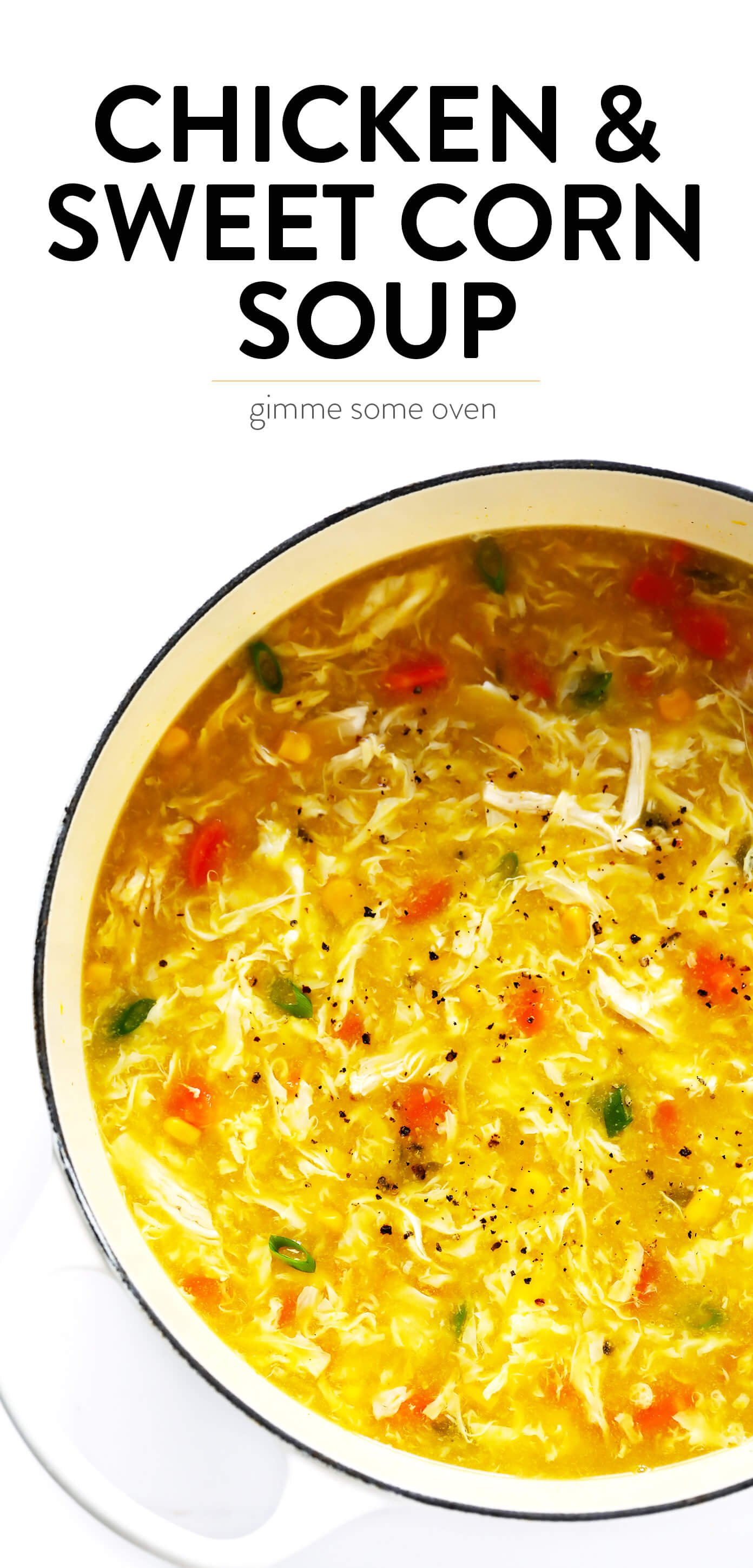 Chicken and Sweet Corn Soup Recipe
