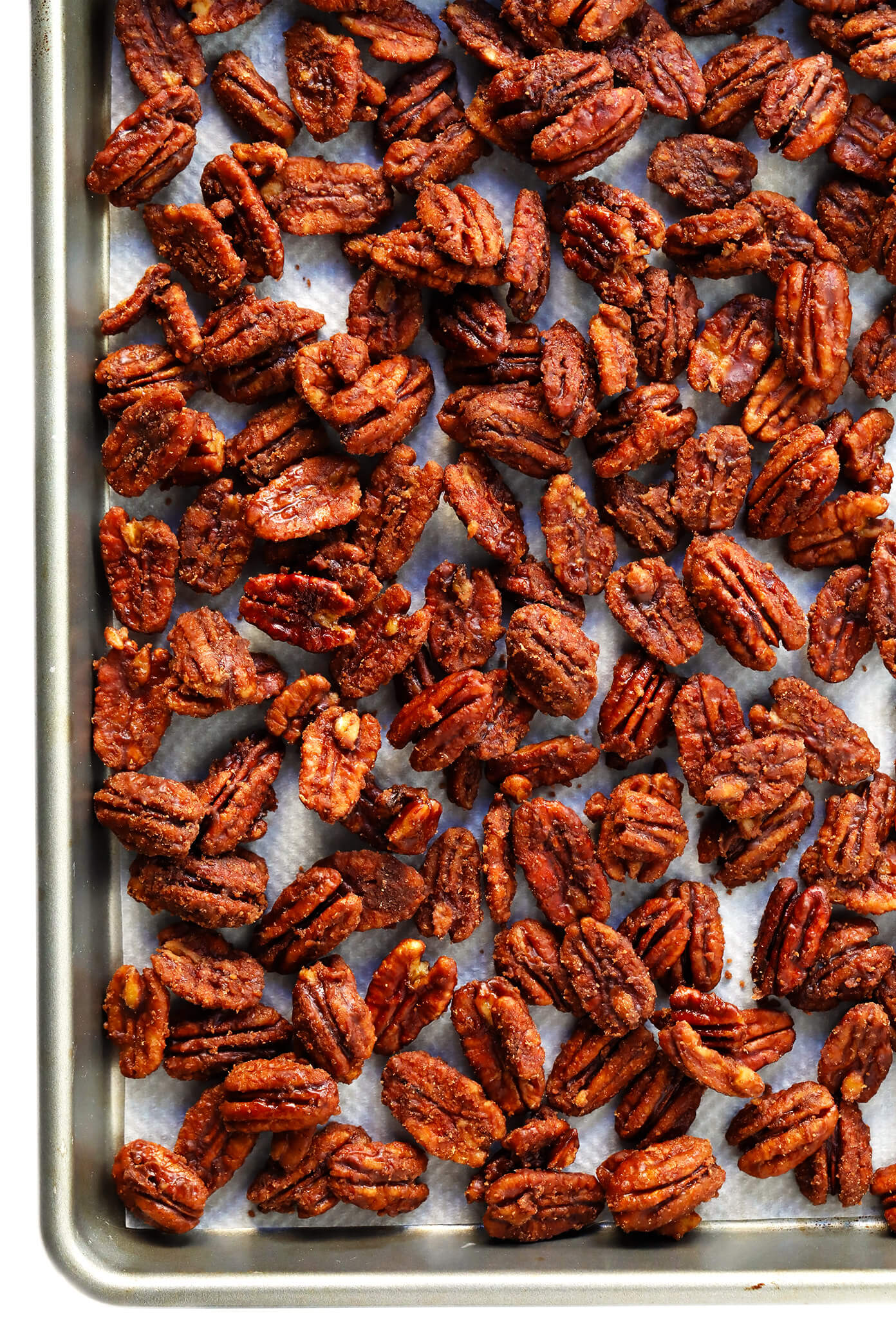 Naturally-Sweetened Maple Syrup Candied Pecans Recipe