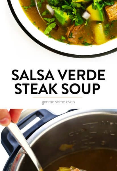 Salsa Verde Steak Soup Recipe