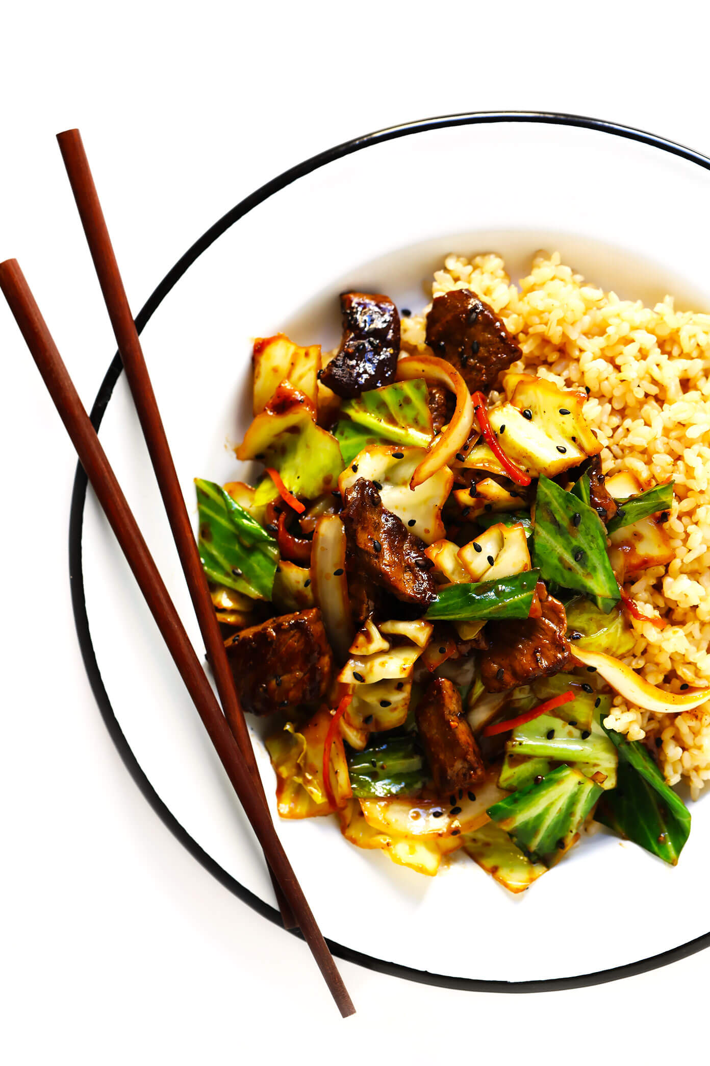 Sesame Beef And Cabbage Stir Fry Gimme Some Oven