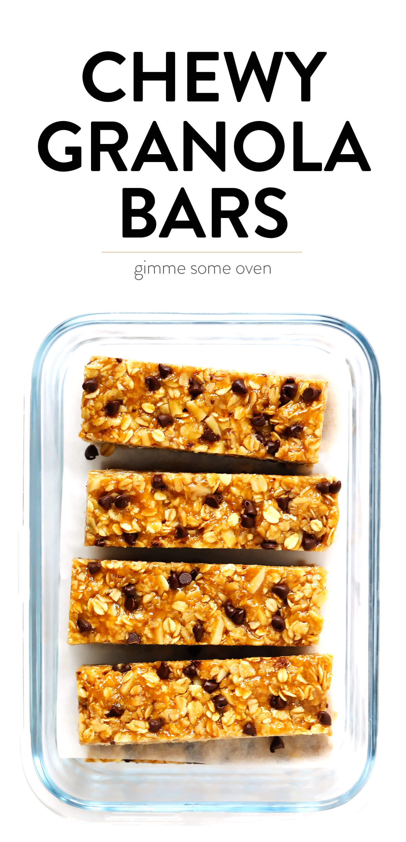Chewy Granola Bars with Peanut Butter and Chocolate Chips