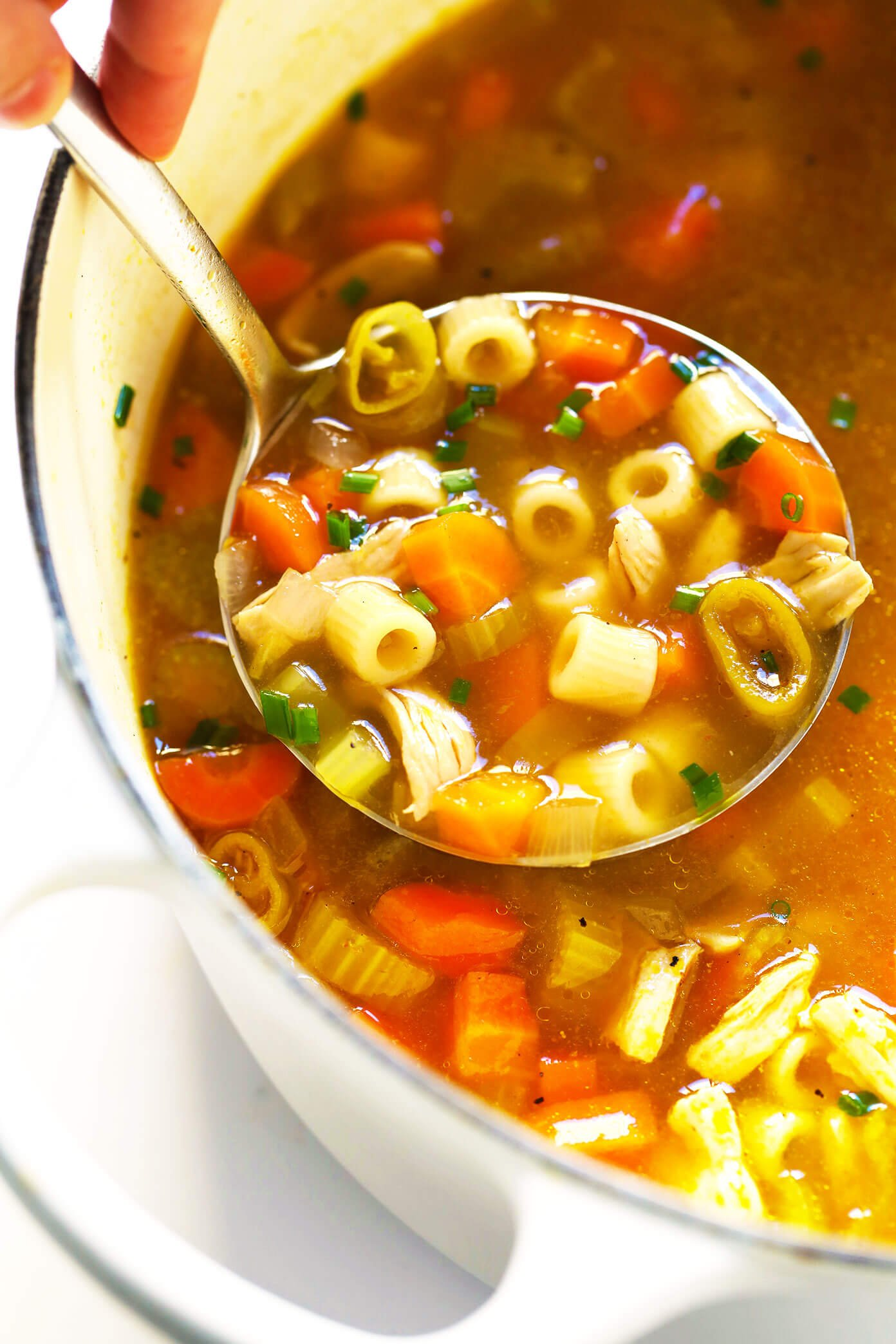 Chicken Noodle Soup recipe with Spicy Pepperoncini Peppers