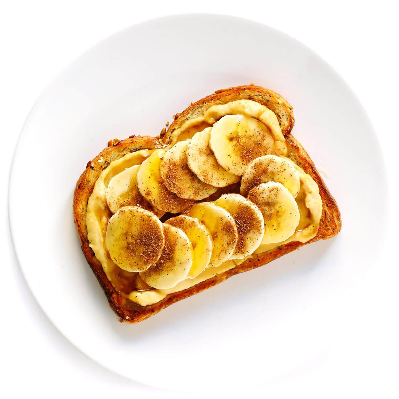 Banana Hummus Toast