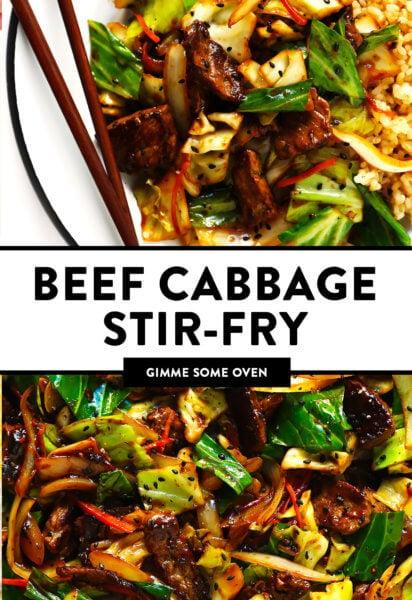 Sesame Beef Cabbage Stir-Fry