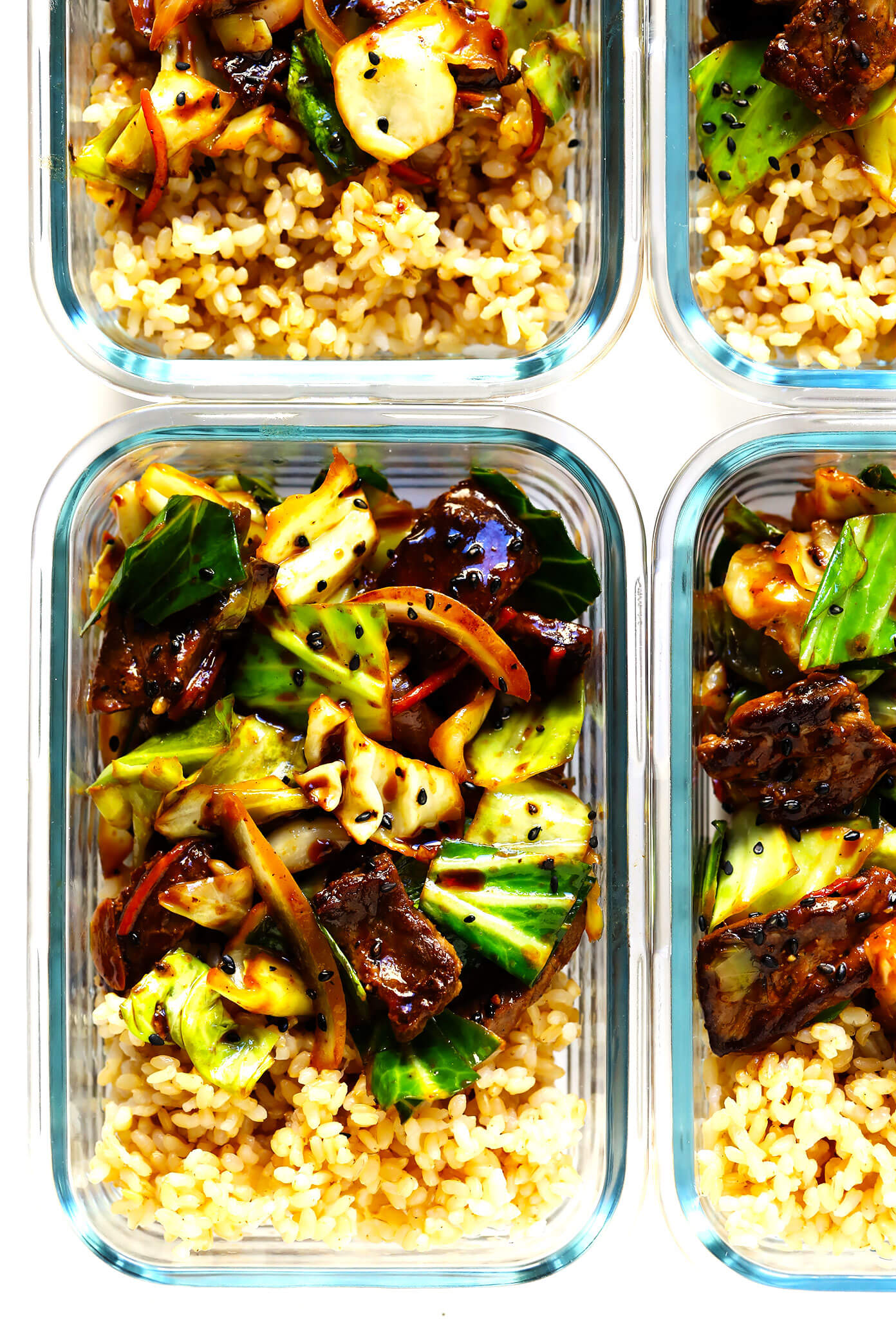 Sesame Beef and Cabbage Stir Fry Meal Prep Recipe