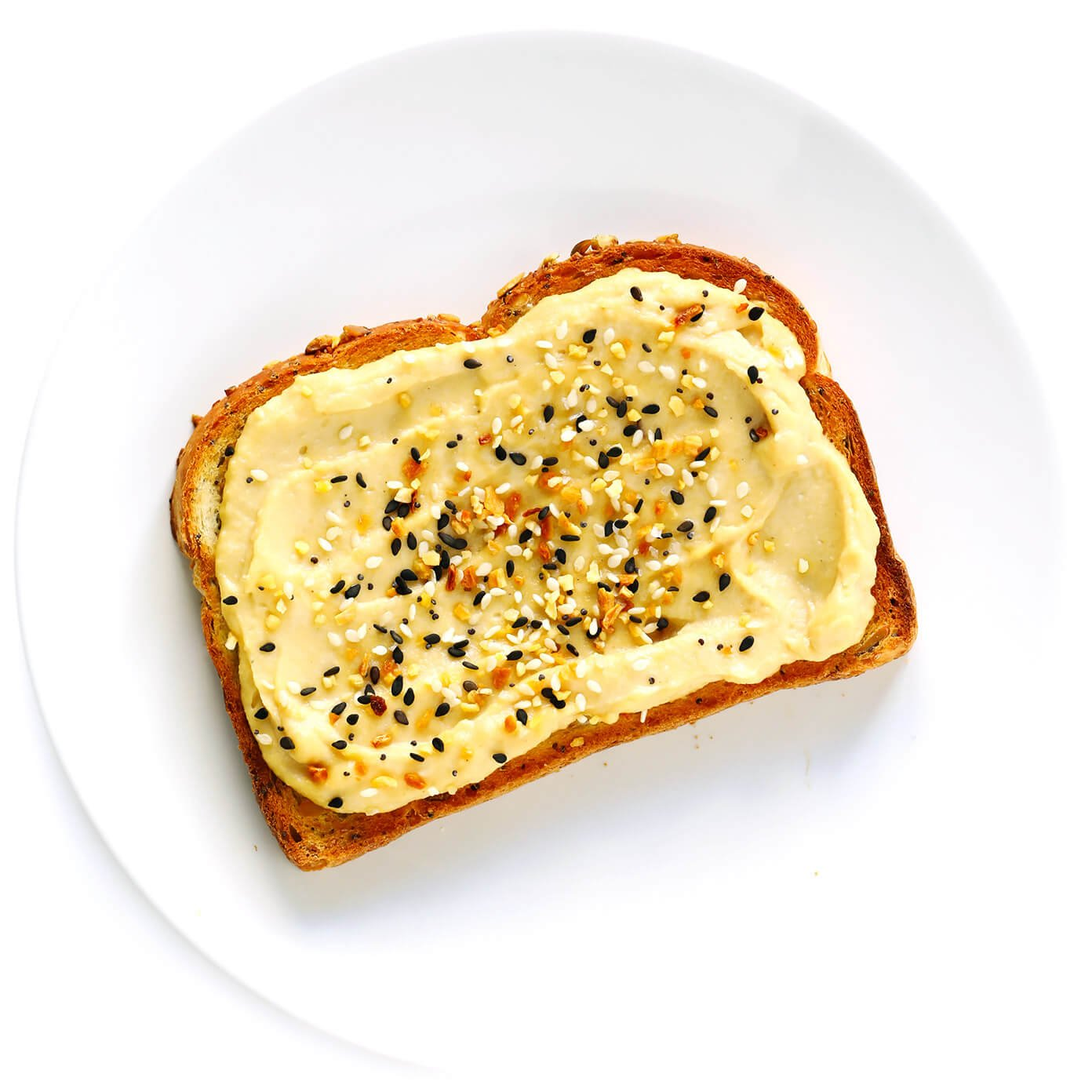 Image result for toast and hummus