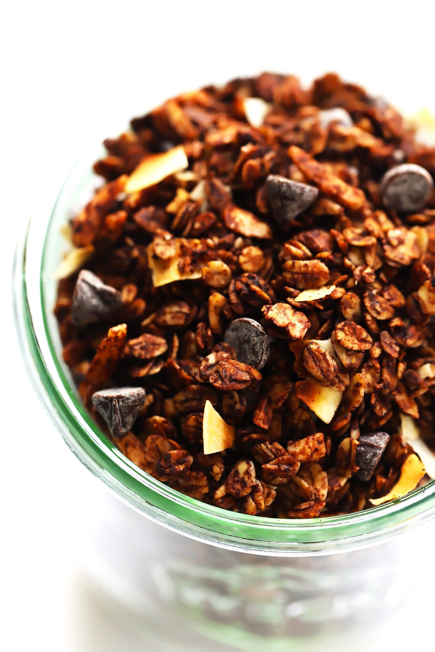 Healthy Chocolate Granola with Chocolate Chips