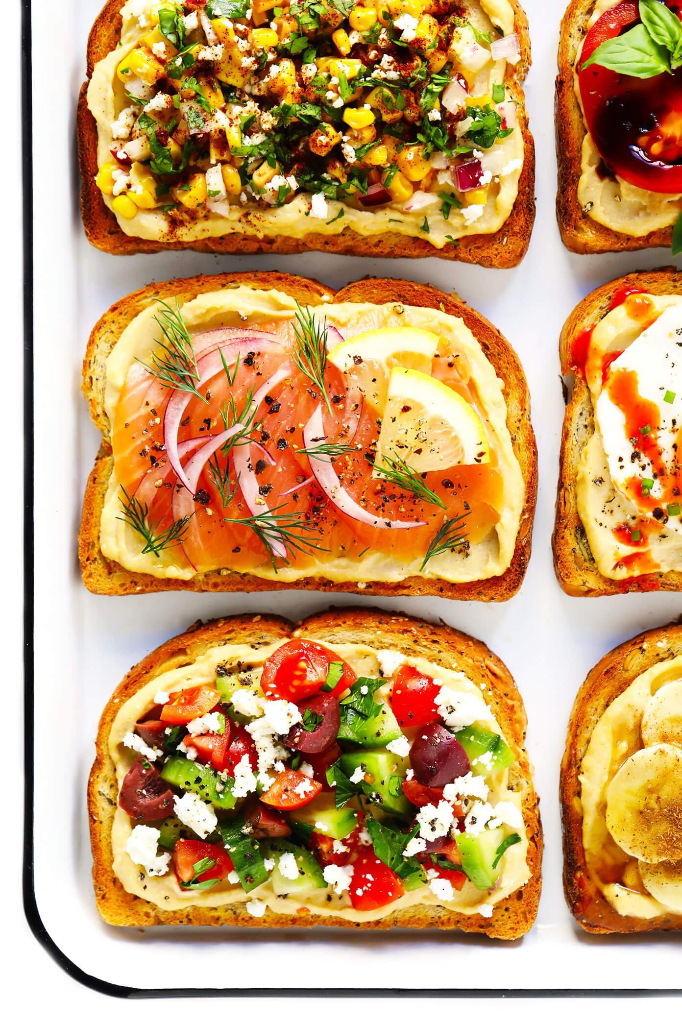 Hummus Toasts