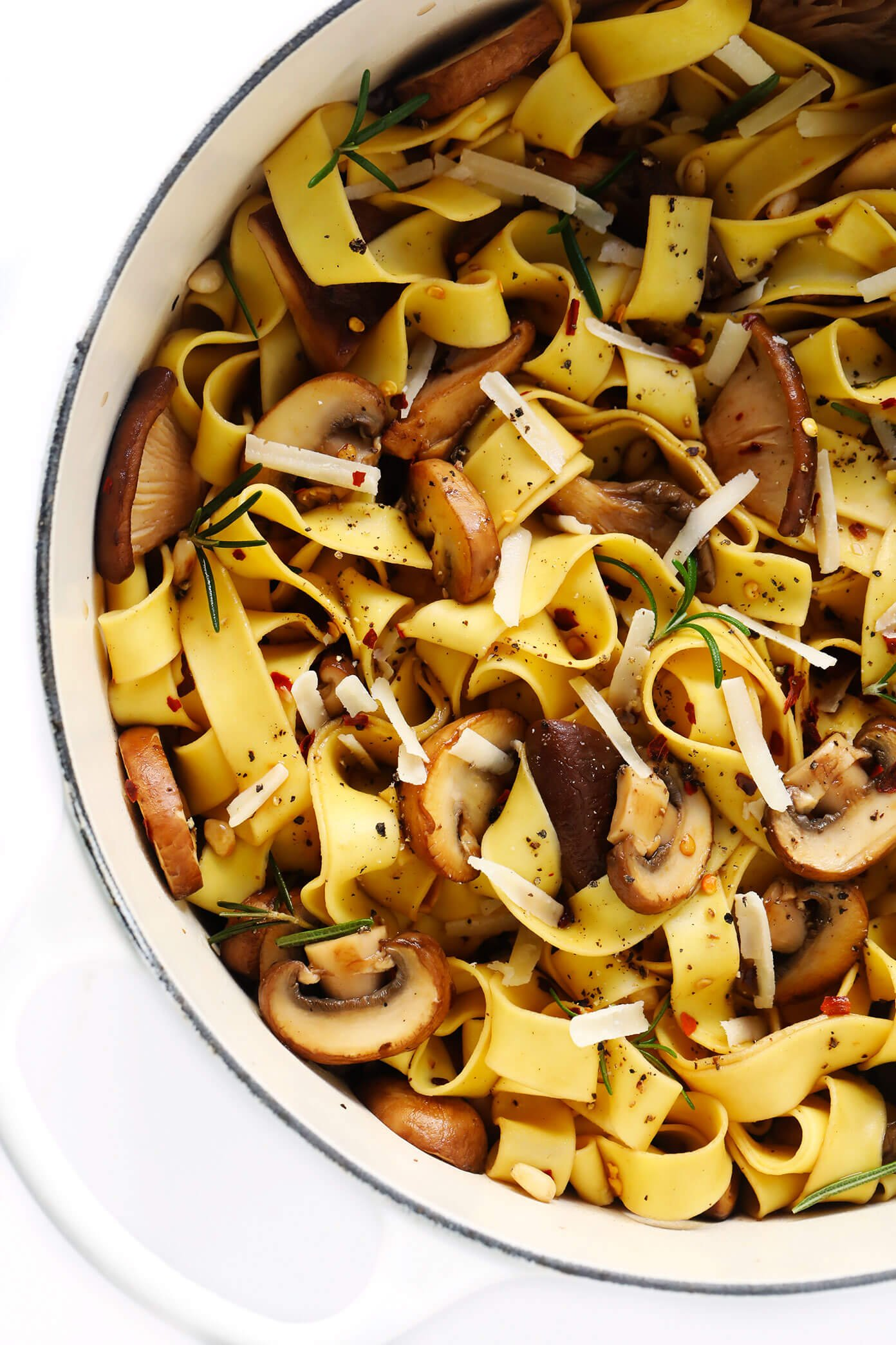 Mushroom Pasta with Parmesan