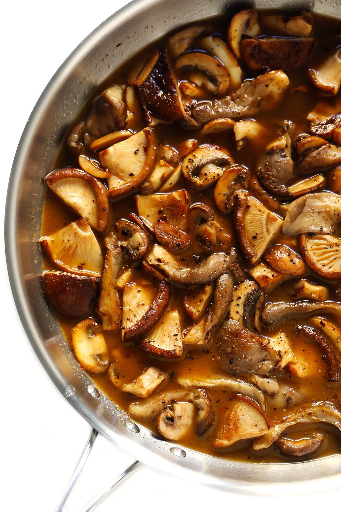 White Wine Balsamic Mushroom Sauce
