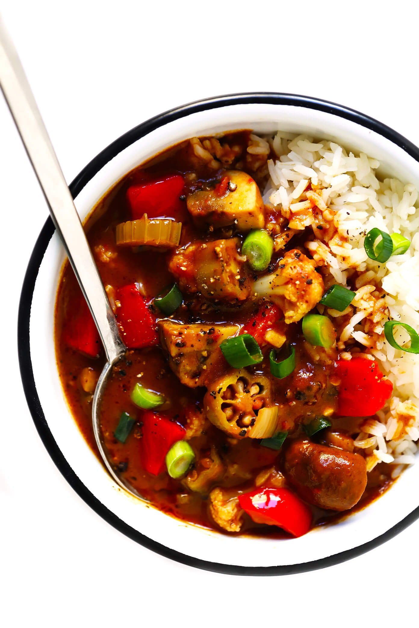 Vegetarian Gumbo Recipe with Rice