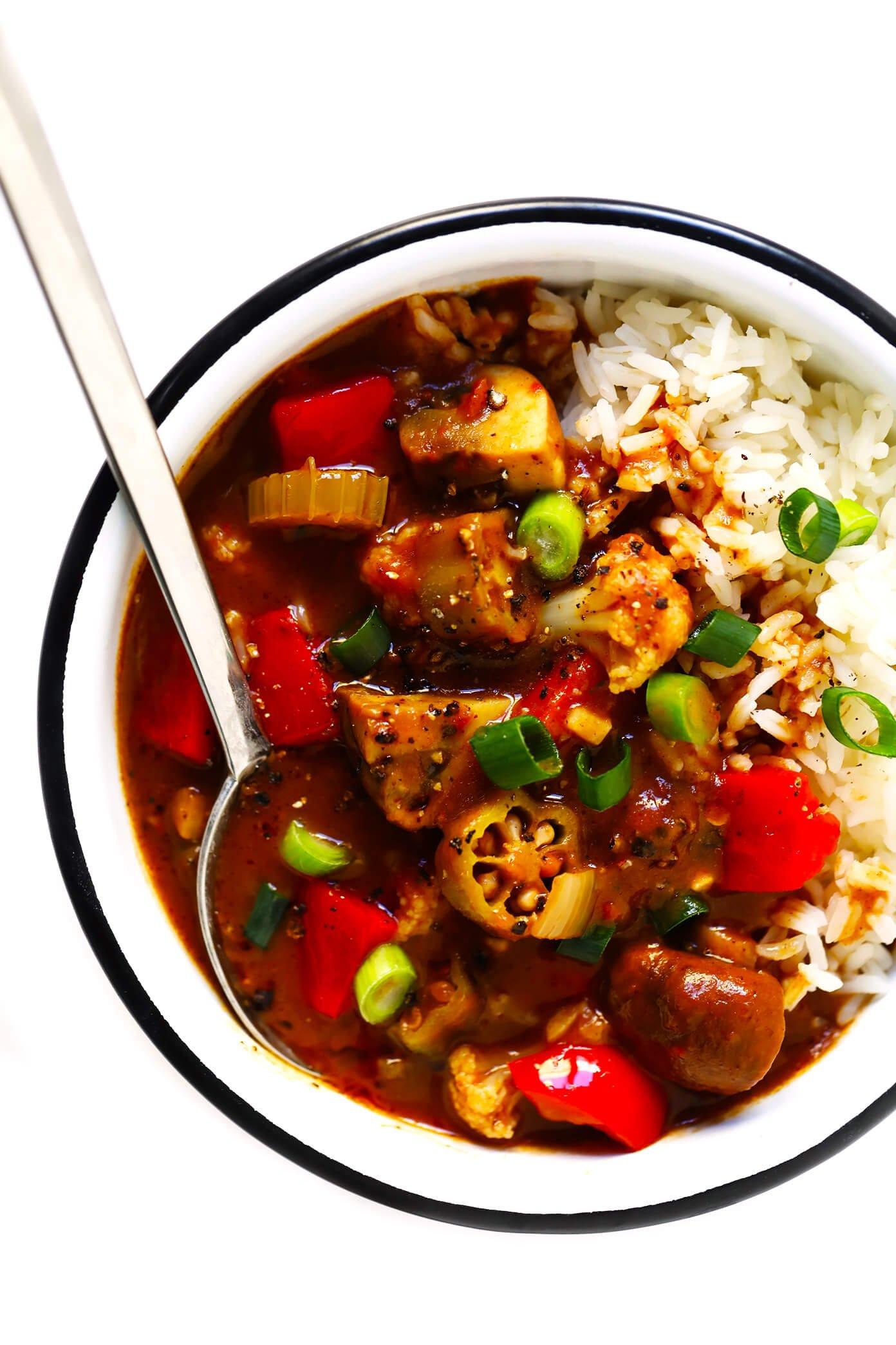 Vegetarian Gumbo Recipe with Rice