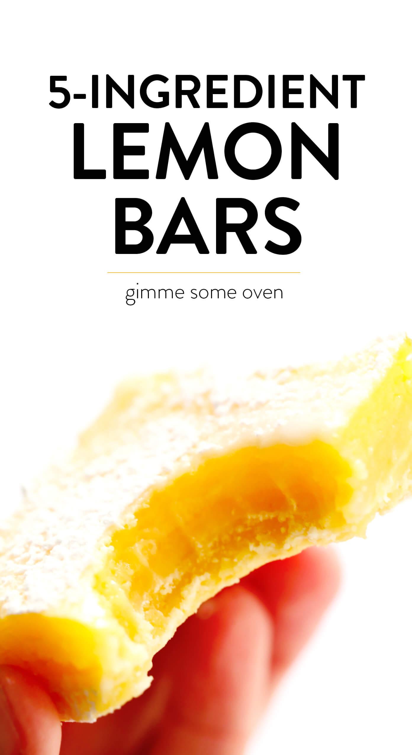 5-Ingredient Easy Lemon Bars