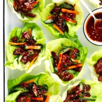 Korean Gochujang Lettuce Wraps