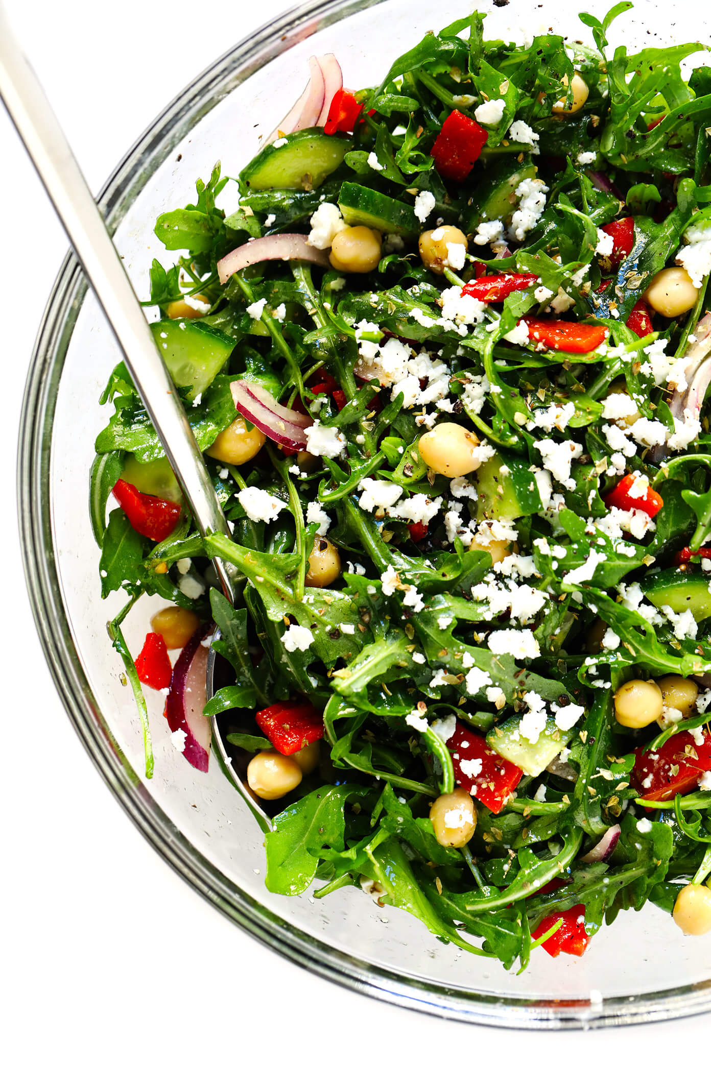Mediterranean Salad with Arugula and Chickpeas