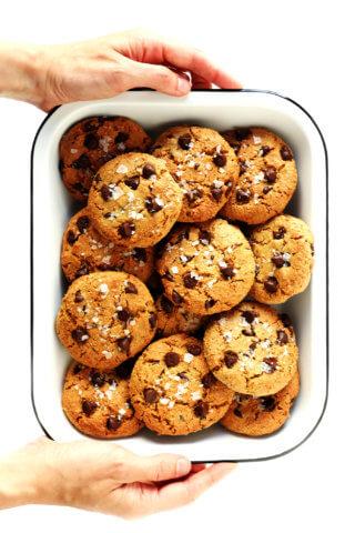 Flourless Chocolate Chip Cookies (Gluten-Free + Vegan)