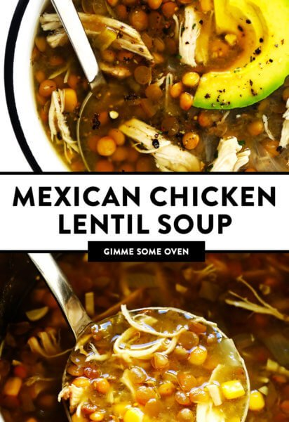 Mexican Chicken Lentil Soup