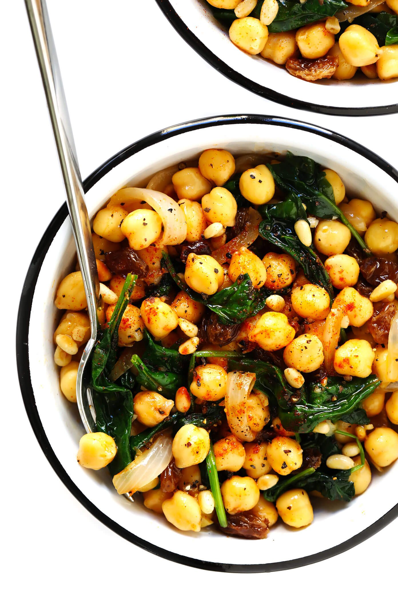 Spanish Garbanzos con Espinaca (Chickpeas with Spinach)