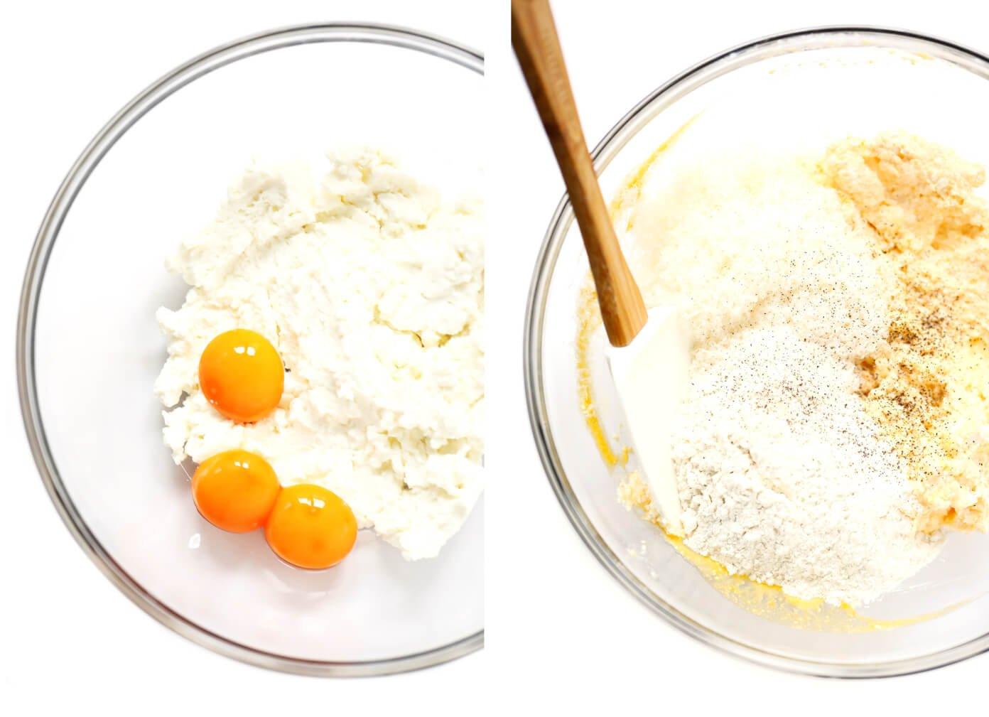 Como hacer ñoquis con queso ricotta