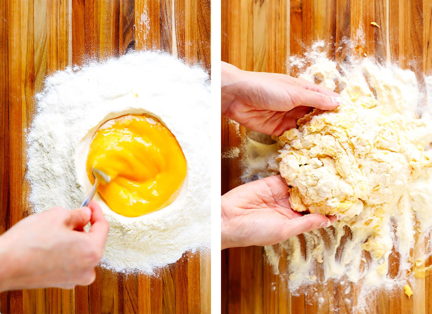 Cómo hacer pasta a mano