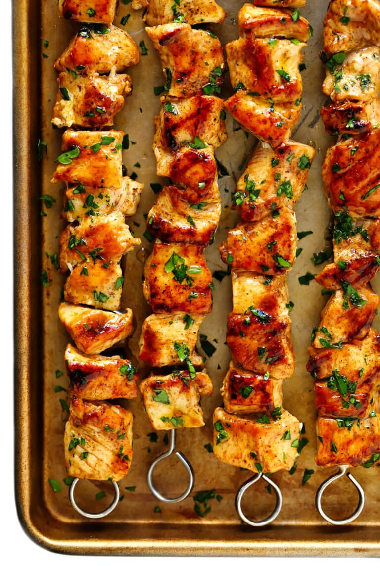 The Juiciest Grilled Chicken Kabobs Gimme Some Oven