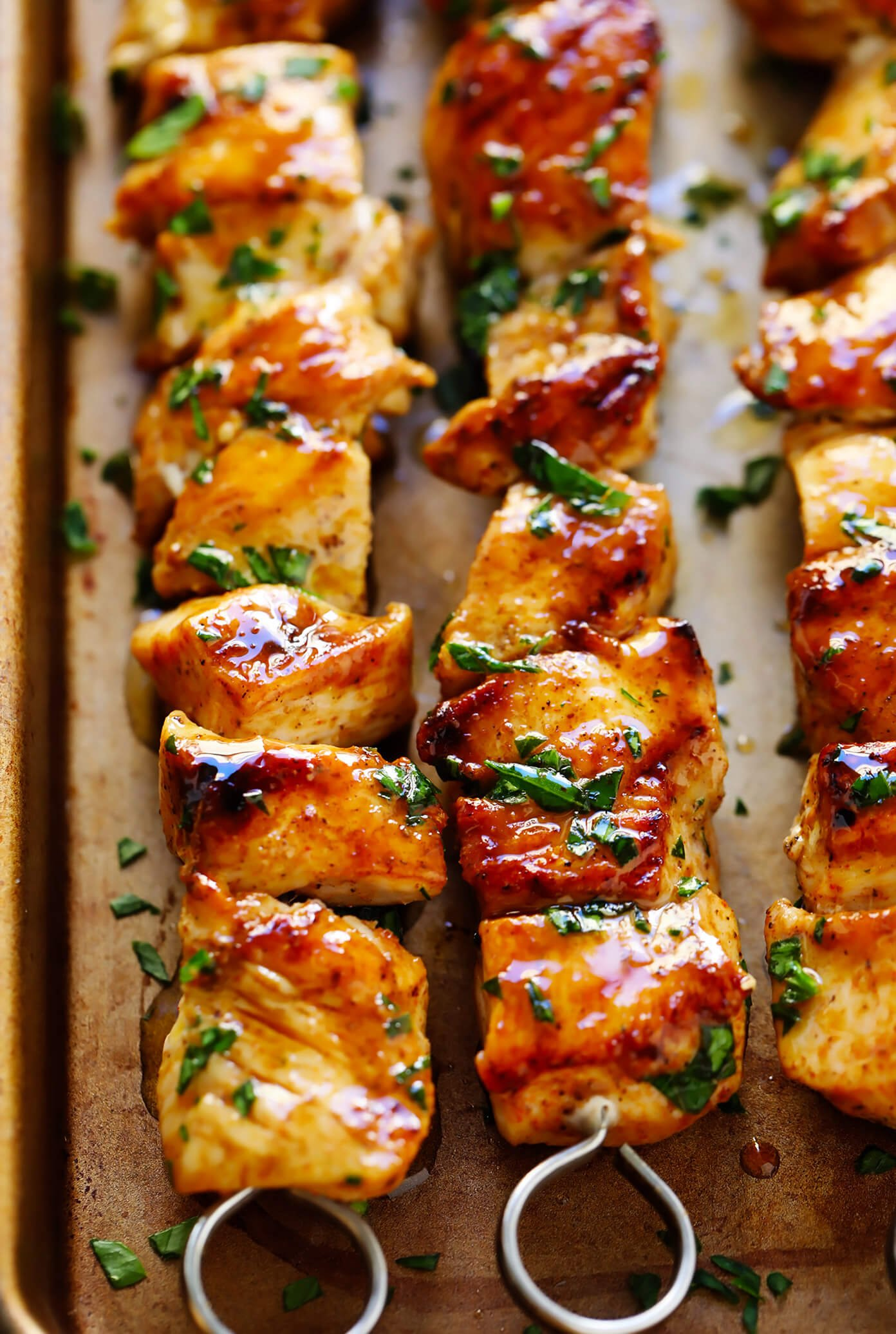 The Juiciest Grilled Chicken Kabobs | Gimme Some Oven