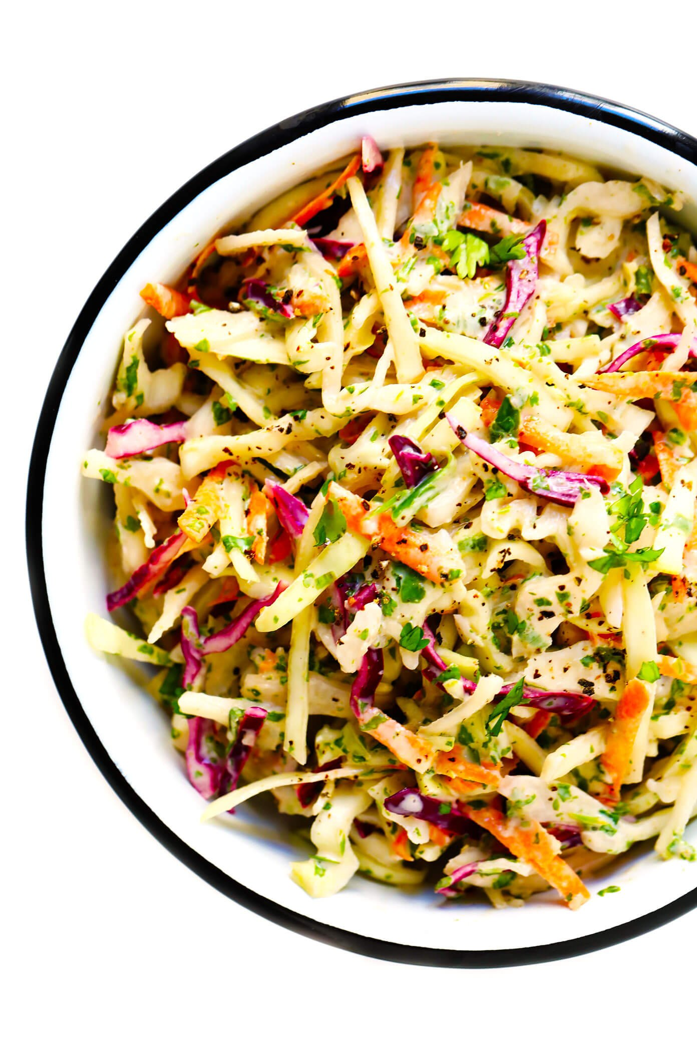Healthy Coleslaw Recipe with Cilantro and Lime