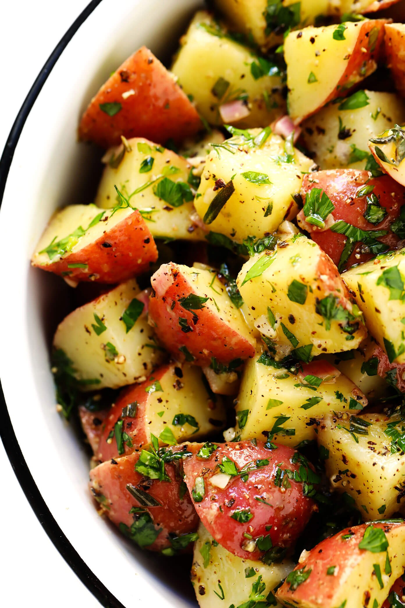 French Potato Salad Recipe with Lemon and Herbs
